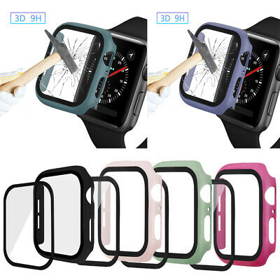 $ CDN9.62 • Buy Apple Watch Series 5/4 40mm 44mm Full Body Cover Case 3D Tempered Glass Protect