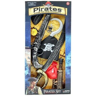 Kids Pirate Role Play & Fancy Dress Toys Prop Set Childrens Toys • 6.99£