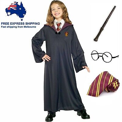 AU34.99 • Buy Harry Potter Costume Girl Boy Book Week Kids Children Robe Glasses Tie Wand