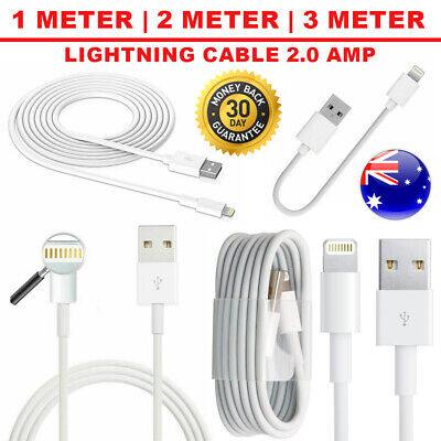 AU6.49 • Buy USB 2m 3m Lightning Cable Data For Apple Charger IPhone 6 X 8 7 5 IPad Air Lot
