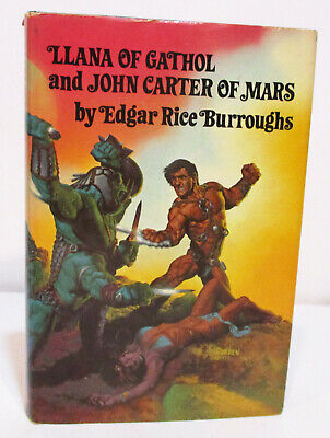 LLANA OF GATHOL & JOHN CARTER OF MARS By EDGAR RICE BURROUGHS HCDJ BOOK CLUB ED • 12$