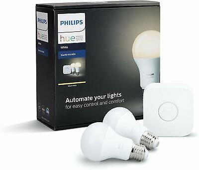AU88.90 • Buy Philips Hue White A60 E27 Starter Kit