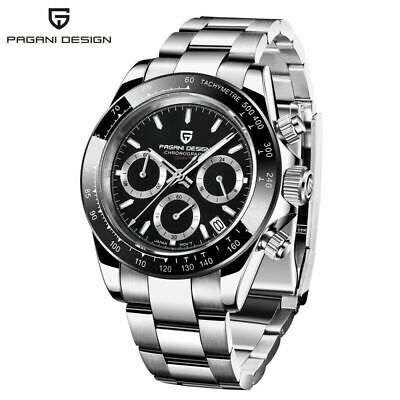 $ CDN74.70 • Buy PAGANI DESIGN Chronograph Waterproof Men's Japan Quartz Wrist Watch Steel Band