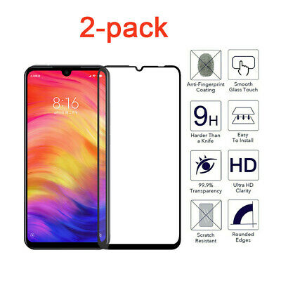 $4.99 • Buy 2-pack For Xiaomi Redmi Note 7 / Pro Glass Protector Tempered Screen Full Cover