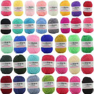 AU1 • Buy CHIC 42 Colors Crochet Soft Bamboo Cotton Knitting Yarn Baby Natural Wool Yarn