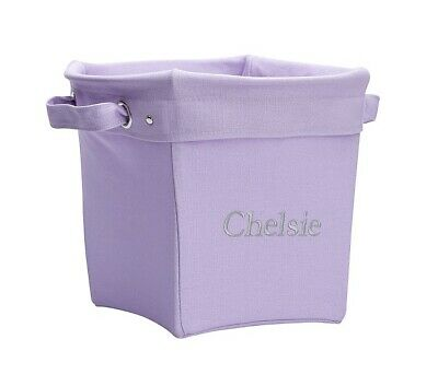 $25 • Buy NEW Pottery Barn KIDS Solid MEDIUM Canvas Storage Bucket Bin Basket~Lavender