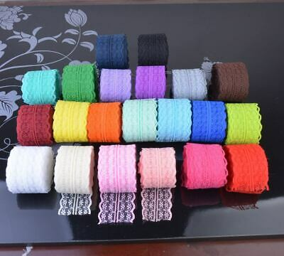 10/100/300yards 45mm Wide Bilateral Handicrafts Embroidered Net Lace Trim Ribbon • 19.99£