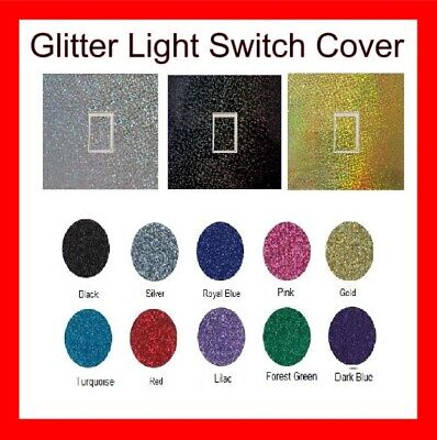 Glitter/Gloss Effect Light Switch Cover Various Colour Any Room Bedroom Decal • 2.60£