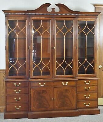 $1899 • Buy Hickory Chair James River Collection Chippendale Style Breakfront China Cabinet