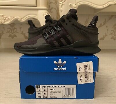 Adidas Women's EQT Support ADV Shoes NEW AUTHENTIC Black BY9110 SZ 6 • 72.35£