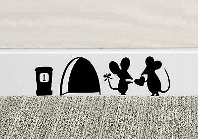 £1.49 • Buy Mouse Love Heart Skirting Board Wall Art Funny Sticker Vinyl Decal Mice Home