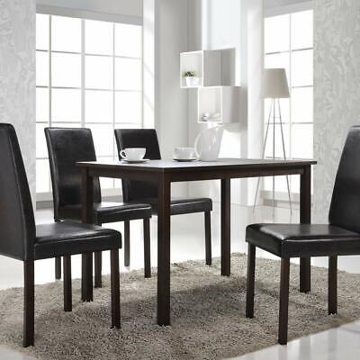 5 Piece Dining Room Set Table And 4 Chairs Dinette Kitchen Home Furniture Wood • 238.99$