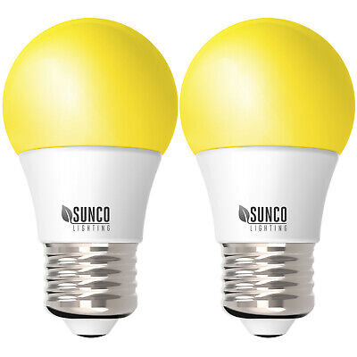 $5.99 • Buy Sunco 2 Pack Dimmable Bug Repel A15 LED Light Bulb 8W 2000K (Yellow) E26