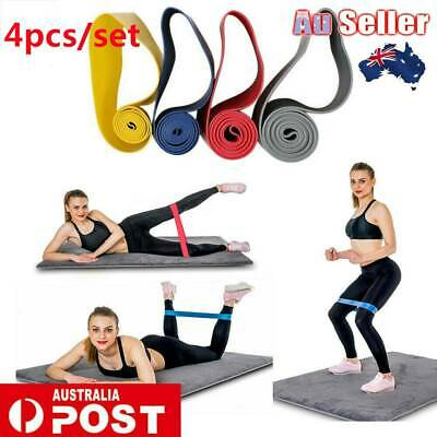 AU17.99 • Buy Resistance Bands Set Of 4 For Exercise Men And Women Legs Arms Booty Yoga Physio