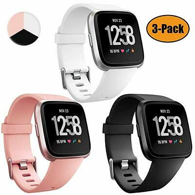 $ CDN15.59 • Buy 3PACK Soft Silicone Replacement Sports Watch Band For Fitbit Versa 2/Lite Watch