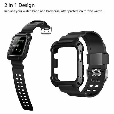 $ CDN11.58 • Buy 42mm Protective Case Cover Strap Band Black For Apple Watch IWatch Series 3 2 1