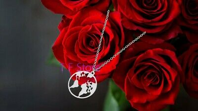 £1.99 • Buy Earth World Map Globe Planet Necklace Silver Gold Fashion Jewellery Women Gift