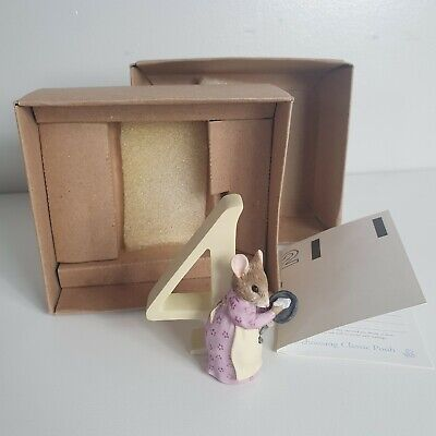 Enesco Aged 4 Birthday Hunca Munca Figurine - Keepsake Gift - Beatrix Potter • 13.95£