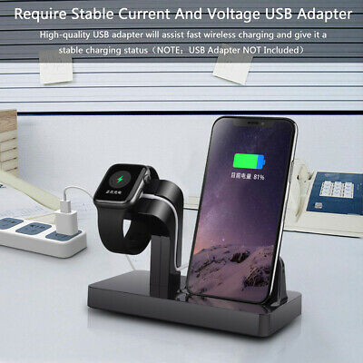 $ CDN10.81 • Buy 2in1 Charging Dock Pad Stand Bracket For IWatch 5/4/3/2/1 I Phone 11 8 X XS