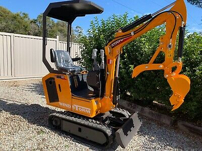 AU9990 • Buy 2020 Latest 12hp Genuine Rhinoceros Diesel Excavator Xn10 With Stander Bucket