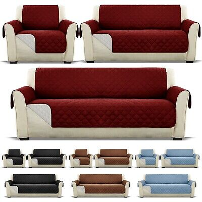 AU20.59 • Buy Sofa Cover Quilted Couch Covers Lounge Protector Slipcovers 1 2 3 Seater Pet Dog
