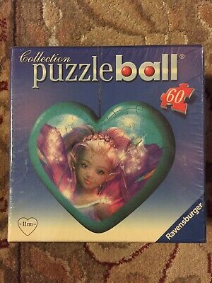 $9.95 • Buy Ravensburger Heart Shaped Puzzleball Puzzle Ball Fairy 60 Pieces 2009 New Sealed