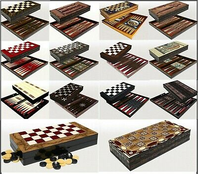 £49.99 • Buy Backgammon Set - Large Wooden Board - Travel Game - Doubling Dice