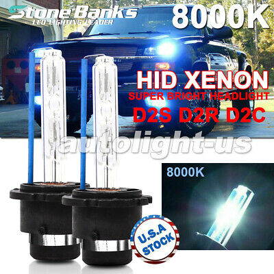 $12.99 • Buy 2x 8000K Ice Blue D2S D2R D2C HID Xenon Bulbs Factory Replacement Headlight Kit