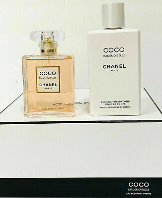 Coco Mademoiselle By Chanel-3.4oz/100ml-EDP INTENSE SPRAY+6.8oz B/Lotion-2PcSet • 194.95$