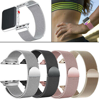 AU4.24 • Buy Milanese Magnetic Stainless Steel Strap Band For Apple Watch Series 4 / 3 /2 /1