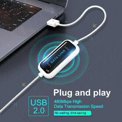 PC To PC USB 2.0 Data Adapter Cable Link Bridging Fast Transfer Lead For Laptop • 8.29£