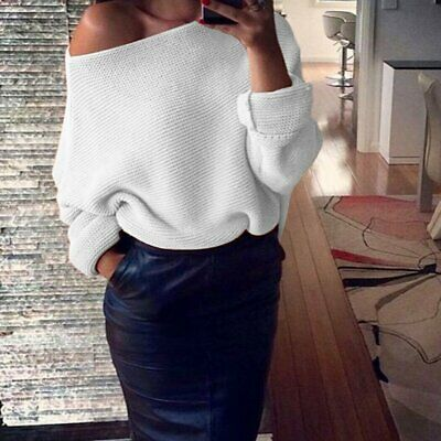 AU12.50 • Buy Womens Lady Fashion Off Shoulder Knitted Sweater Tops Jumper Pullover AU Store