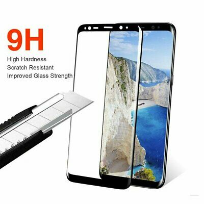 AU4.55 • Buy For Galaxy S8 S8+ Plus 4D Tempered Glass Full Cover Screen Protector