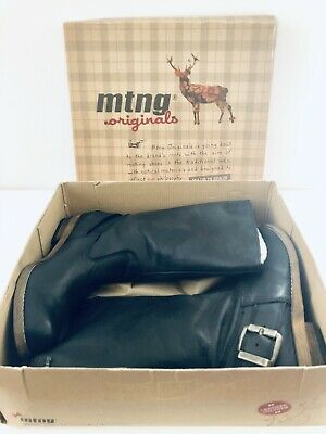 $75 • Buy MTNG Originals Bill Black Leather Mid Calf Sz 8 US 38 EU Boots New In Box Spain