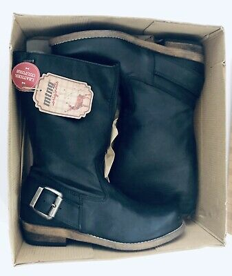 $88 • Buy MTNG Originals Bill Black Leather Mid Calf Sz 7-7.5 US Boots New In Box Spain