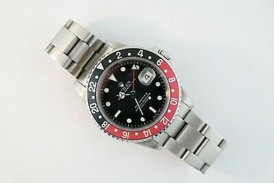$ CDN12950.15 • Buy Men's Rolex GMT Master II 16710  Coke  Black & Red Bezel Insert Circa 2002