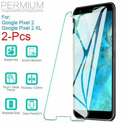 AU3.99 • Buy 2x Premium 9H Tempered Glass Screen Protector Film For Google Pixel 2 / 2 XL