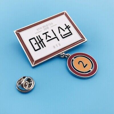 $3.68 • Buy Bangtan Boys BTS 5TH MUSTER Metal Pendant Badge Brooch Pin Accessory Fan Goods
