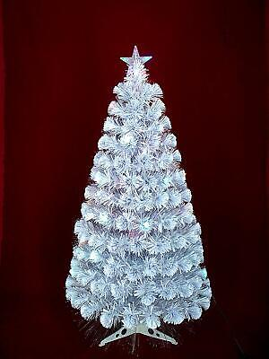 White  Fiber Optic Xmas/Christmas Tree With Decorations 3ft (90cm) • 29.99£