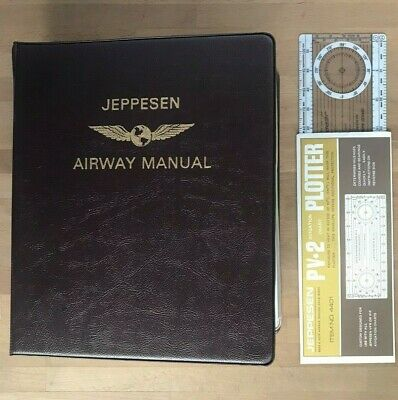 VTG Jeppesen Pilots Airway Flight Manual W/ Low Altitude Enroute Charts F-5 Code • 22.50$