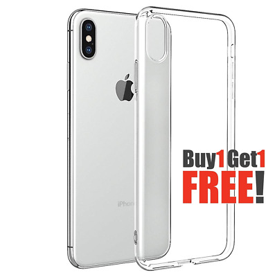 AU4.99 • Buy 2X Ultra Thin Slim Clear Soft TPU Case Cover For IPhone X Xr Xs Max 7 8 Plus