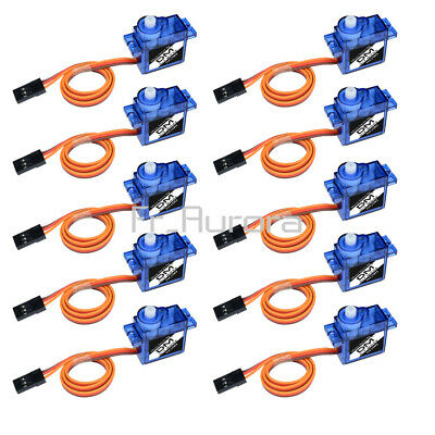 AU15.22 • Buy 10pcs 9G SG90 Micro Servo Motor RC Robot Helicopter Airplane Control Car Boat