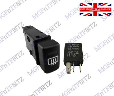 £36 • Buy Mg Mg Tf Heated Rear Window Switch Yug102570pmp & Relay  ** Free Uk Delivery **