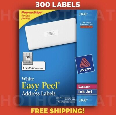 """$5.49 • Buy 300 Avery 5160/6240/8160/5960/5260 Address Mailing Shipping Labels 1"""" X 2 5/8"""""""