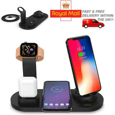 3 In 1 Charging Dock Charger Stand For Apple Watch Series/iPhone Station • 12.99£