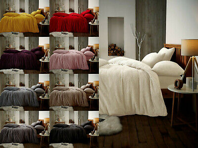 Teddy Bear Fleece Fitted Sheet OR Duvet Cover Set Sherpa Thermal Warm Bedding  • 13.99£