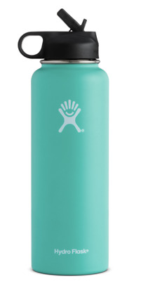 Hydro Flask 40 OZ Wide Mouth Stainless Steel Bottle With Flip Up Straw Lid • 48.95$