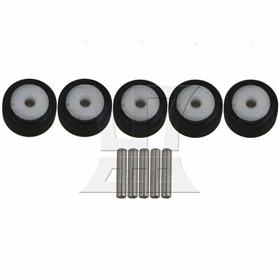 5pcs Rubber 12.8 X 6 X 2.5 Mm Pinch Roller With Axis For Cassette Decks • 6.90£