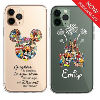 AU12.13 • Buy Cartoon Disney Fan Art CLEAR Phone Personalised Cover Case For IPhone 11 X 8 Pro