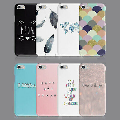 £6.89 • Buy Quotes Cute Designs Cat Phone Case For Iphone 7 8 Xs Xr Samsung S8 S9 Plus